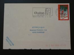 71 Saone Et Loire Chalon Sur Saone Stade 1999  - Flamme Sur Lettre Postmark On Cover - Marcophilie (Lettres)