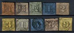 Altdeutschland Thurn&Taxis 1852-58, 10 Einzelmarken (Satz), Mi. # 1 - 10. - Tour Et Taxis