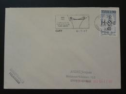 74 Haute Savoie Cusy Centenaire Pont De L'Abime 1987 - Flamme Sur Lettre Postmark On Cover - Ponts