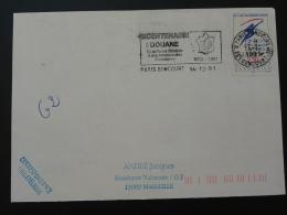75 Paris Goncourt Bicentenaire De La Douane Customs 1991 - Flamme Sur Lettre Postmark On Cover - Police - Gendarmerie