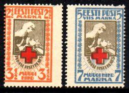 02617 Estonia 47/48 Cruz Vermelha Denteado NN - Estonia
