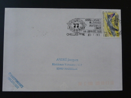 77 Seine Et Marne Chelles Printemps De L'image 1993 - Flamme Sur Lettre Postmark On Cover - Cinema