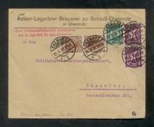 DR 1920/22, Inflation, Bedarfsbrief Im Ortsverkehr Von Chemnitz Am 21.6.1922, Frankiert Mit Mi. #  140 B, 160, 183 A. - Oblitérés