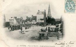 Saint Pair Sur Mer La Place Du Marché Circulee En 1905 - Saint Pair Sur Mer