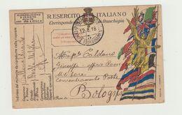 WW1 -  FRANCHIGIA MILITARE POSTA MILITARE CAMPO RIORDINAMENTO 12.08.1918 - Guerra 1914-18