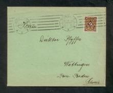 DR 1923, Inflation, Bedarfsbrief/Drucksache Nach Wettingen/Schweiz Am 26.2.1923, Frankiert Mit Mi. 208 P, EF - Germany