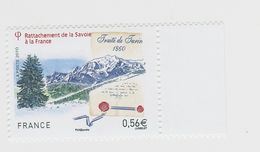 2010 - TIMBRE NEUF - Rattachement De La Savoie à La France - Traité De Turin (1860) - N° YT : 4441 - France