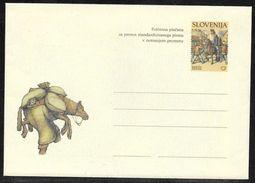 Slovenia: 2001 Illustrated Postal Stationery Envelope With Lettersheet - Martin Krpan - Unused - Slovenia