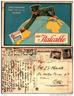 218) Cartolina Con Pubblicità Cablogrammil Italcable-viaggiata 1930 - Pubblicitari