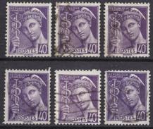 FRANCE 1938 - Y.T. N° 413 X 6  - OBLITERES.. K326 - Oblitérés