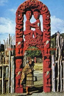 Maori Art - Whakarewarewa - New Zealand - Nouvelle-Zélande