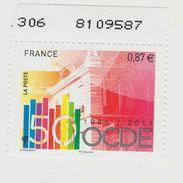 2011 - TIMBRE NEUF - Cinquantenaire De L'OCDE (Organisation De Coopération Et De Développement économique)- N° YT : 4563 - France