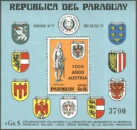 PARAGUAY/STAMPS, 1976 - 1000 YEARS OF AUSTRIA. MNH - Stamps