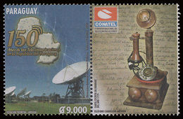 TELEPHONE-STAMPS-PARAGUAY-2014-150 YEARS OF TELECOMMUNICATIONS IN PARAGUAY- - Paraguay