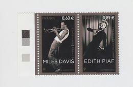 2012 - TIMBRE NEUF - Edith PIAF (1915-1963) Et Miles DAVIS (1926-1991) - N° YT : 4671 Et 4672 - France