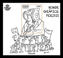 Spain 2015 Mih. 4988 (Bl.268) Graphic Humour. Peridis. The Lady Of Elche MNH ** - 2011-... Unused Stamps