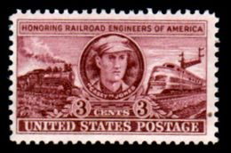 USA, 1950, Scott #993, Railroad Engineers Of America, 3c,  MNH, VF - United States