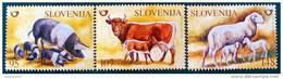 FAUNE DOMESTIQUE 2003 - NEUFS ** - YT 401/03 - MI 438/40 - Slovenië