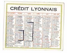 CALENDRIER CREDIT LYONNAIS 1963 - Petit Format : 1961-70