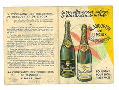CALENDRIER 1961 PUB BLANQUETTE DE LIMOUX VIN EFFERVESCENT NATUREL - Calendriers