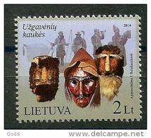 Litauen, 2014, 1153, Fastnachtsmasken.  MNH ** - Lithuania