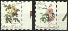 Belgium - 1990 Roses III Set Of 2 MNH ** SG 3009-10  Sc B1089-90 - Belgium