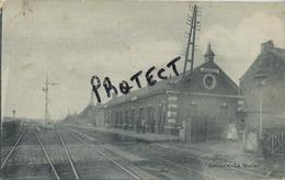 Jamioulx : La Station - GARE  ( Ecrit 1914 Avec Timbre ) Marcophilie Cachet ( 2 Scans ) RARE - Ham-sur-Heure-Nalinnes