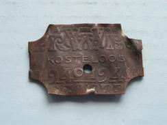 RWB Rijwielbelastingmerk 1940 - 1941 ( BODEMVONST ) ! - Transportation