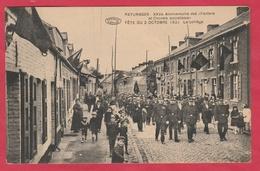 """Pârurages - XXVe Anniversaire Des """" Fanfares Et Chorales Socialistes """" - 2 Octobre 1921 ( Voir Verso ) - Colfontaine"""