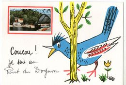 CPSM  87     LE PONT DU DOGNON         DESSIN   COUCOU JE SUIS - France