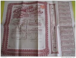 """Titre Au Porteur De 5 Actions De 1 Livre Sterling/""""The Cambrian Copper Mining Company /1901  ACT80quinto - Mines"""