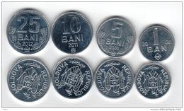 Moldova Set On 4 Coins UNC - Moldavie