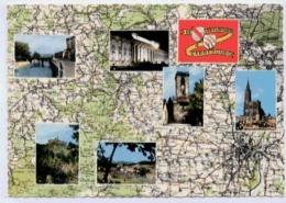 DE STRASBOURG A SARREBOURG - Cartes Géographiques