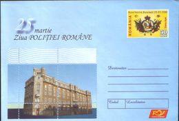 Romania - Postal Stationery Cover 2006 Unused - The Romanian Police Day - Police Headquarters, Romanian - Police - Gendarmerie