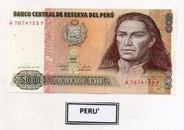 Perù - 1987 - Banconota Da 500 INTIS - Nuova -  (FDC5102) - Perú