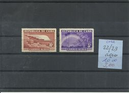 CUBA AEREO YVERT  22/23  MH  * - Poste Aérienne