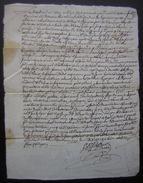 1740 Charente Chaignon Paroisse D'Aumagne Acquisition Pour Louis Guichard De Pierre Girard - Manuscrits