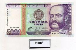 Perù - 1988 - Banconota Da 5000 INTIS - Nuova -  (FDC5103) - Perú