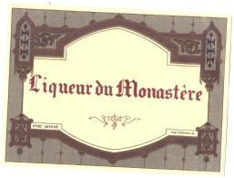 - étiquette - Liqueur Du Monastere - Dorure -  (4  Petits Pts Colle Ou Amincis) Modele 387 - Whisky