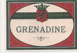 - étiquette - SIROP DE GRENADINE   (4  Petits Pts Colle Ou Amincis) 1930* - Etiquetas