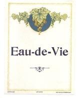 - étiquette - EAU DE VIE  - Grappe  Modèle IMPRIMEUR 445 -  Texte Dos Explications (points Colle/petit Amincis) - Etiquetas