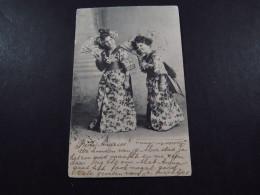 Postcard Ansichtkaart Briefkaart Netherlands Grootrond Woudrichem Rotterdam 1904 Meisjes In Kostuum - Postkaarten