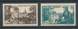 FRANCE 1940 . N°s 451 Et 452 Neufs **  (MNH) - France