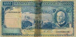 Angola , 1970 , Colony , Colonie , Banknote , Billet , 1000 Escudos , Americo Tomas , Palanca - Angola