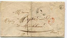 DROME De SAUZET LAC Du 01/12/1842 Boîte Rurale E + Dateur T 13 De MONTELIMAR + Cachet CL+ Taxe De 1 - Storia Postale
