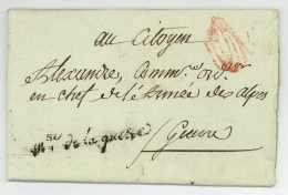 REVOLUTION – PACHE (1746-1828) Ministre Guerre Maire Paris - 1792 Pour L'ARMEE DES ALPES Autographe - Marcophilie (Lettres)