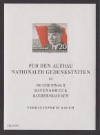 """Ernst Thälmann 1956 DDR Block 14 ** """"Für Den Aufbau Nationaler Gedenkstätten"""" - [6] Oost-Duitsland"""