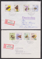 Bienenwolf, Honigbiene Und Bestäuberinsekten 2 Kpl. Ausgaben 1984 Der BRD Und Berlin(West) Je Auf R-Brief - Abeilles