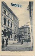 Marche-macerata-camerino Cassa Di Risparmio Veduta Edificio Banca Animata Anni 30 - Italia