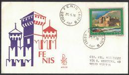 TH63    FDC  Italia 1976 Venetia  CASTELLO DI FENIS - 1946-.. République